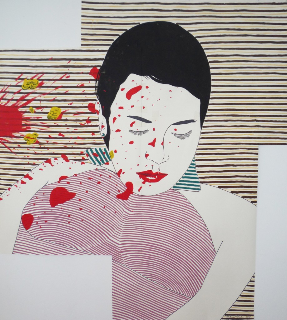 Deja Vu, Dispersion & Pastell auf Papier, 150x150cm, 2011